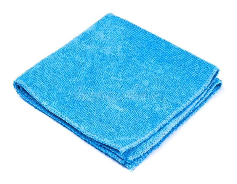 μπλε ξεσκονόπανο microfiber στοκ εικόνες