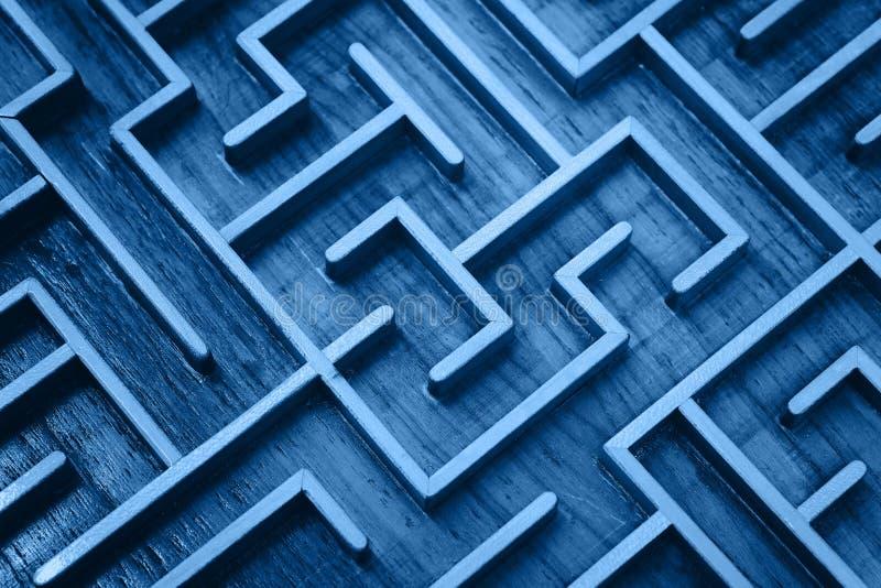 Μπλε, ξύλινο λαβύρινθος στοκ φωτογραφίες με δικαίωμα ελεύθερης χρήσης