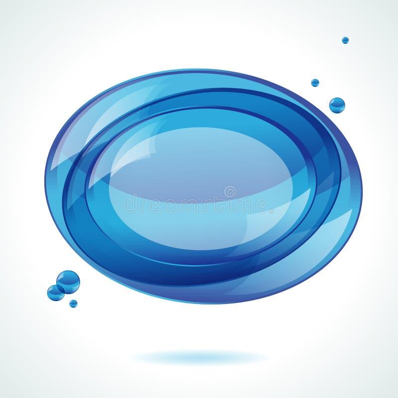 μπλε ομιλία φυσαλίδων αν& διανυσματική απεικόνιση