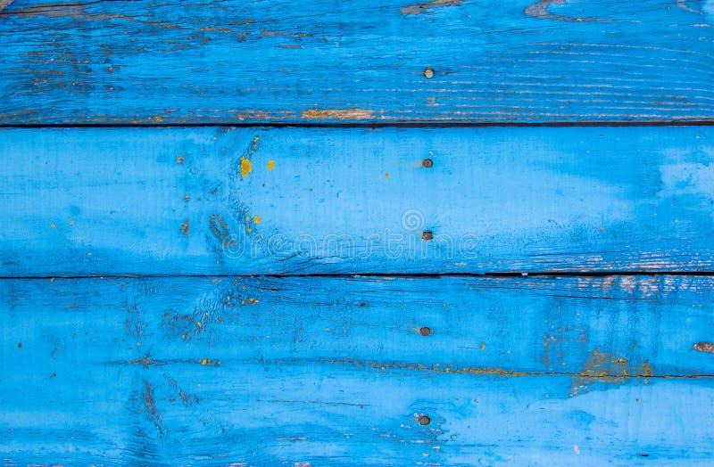 Μπλε οριζόντιο υπόβαθρο των παλαιών ξύλινων πινάκων στοκ φωτογραφία με δικαίωμα ελεύθερης χρήσης