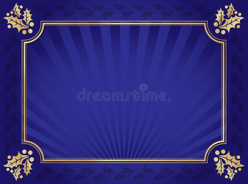 μπλε οριοθετημένος χρυ&si διανυσματική απεικόνιση