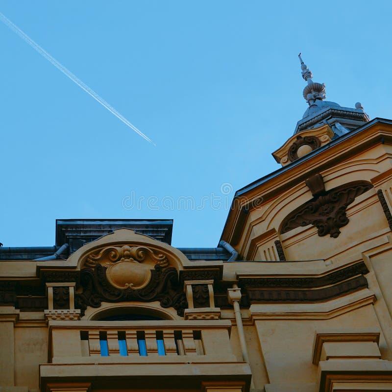 μπλε ουρανός αεροπλάνων στοκ φωτογραφίες με δικαίωμα ελεύθερης χρήσης