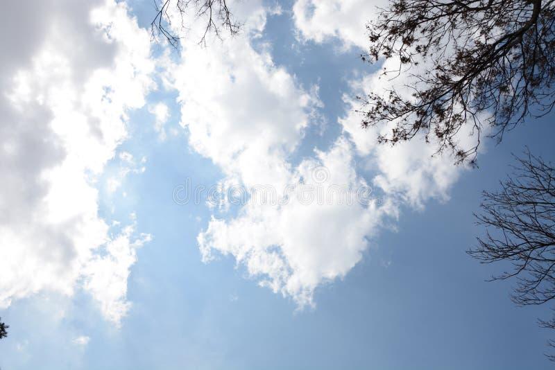 Μπλε ουρανός και σύννεφα backround στοκ εικόνες