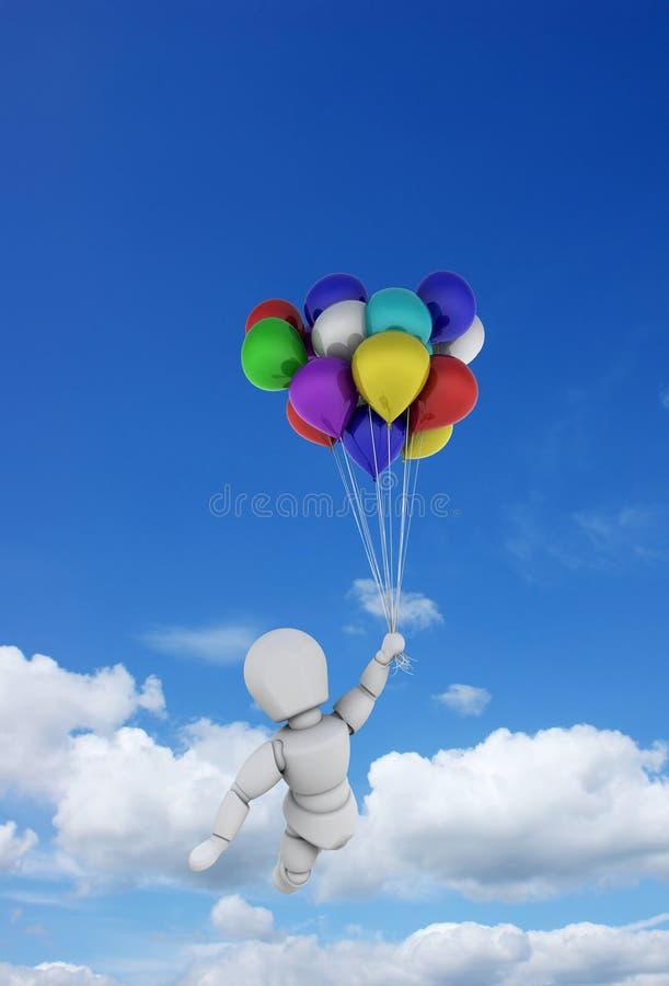 μπλε ουρανός προσώπων μπα&la απεικόνιση αποθεμάτων