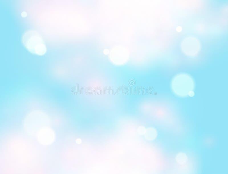 μπλε ουρανός Ρεαλιστικό σχέδιο θαμπάδων αφηρημένο να λάμψει ανασκόπ& απεικόνιση αποθεμάτων