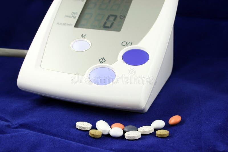 μπλε πίεση μηνυτόρων αίματ&omicron στοκ εικόνες
