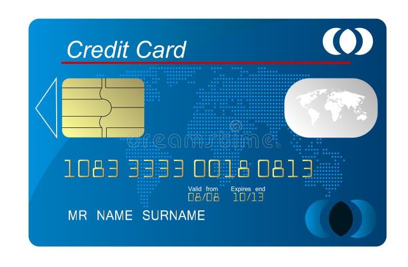 μπλε πίστωση καρτών διανυσματική απεικόνιση