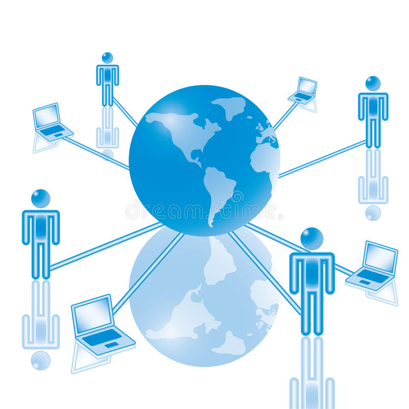 μπλε παγκόσμιο δίκτυο υ&p απεικόνιση αποθεμάτων