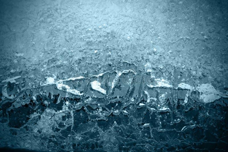 μπλε παγωμένη επιφάνεια στοκ εικόνα με δικαίωμα ελεύθερης χρήσης