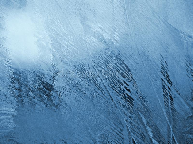 Μπλε παγωμένο φυσικό σχέδιο στοκ φωτογραφία με δικαίωμα ελεύθερης χρήσης
