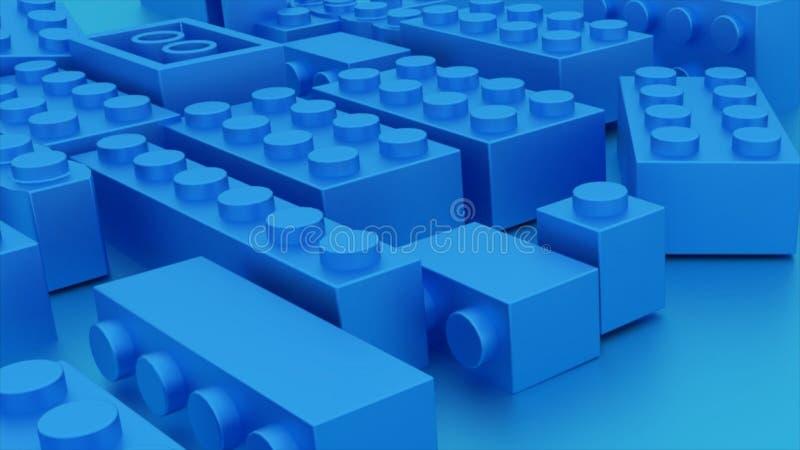 Μπλε παιχνίδι τούβλων lego πλαστικό ελεύθερη απεικόνιση δικαιώματος