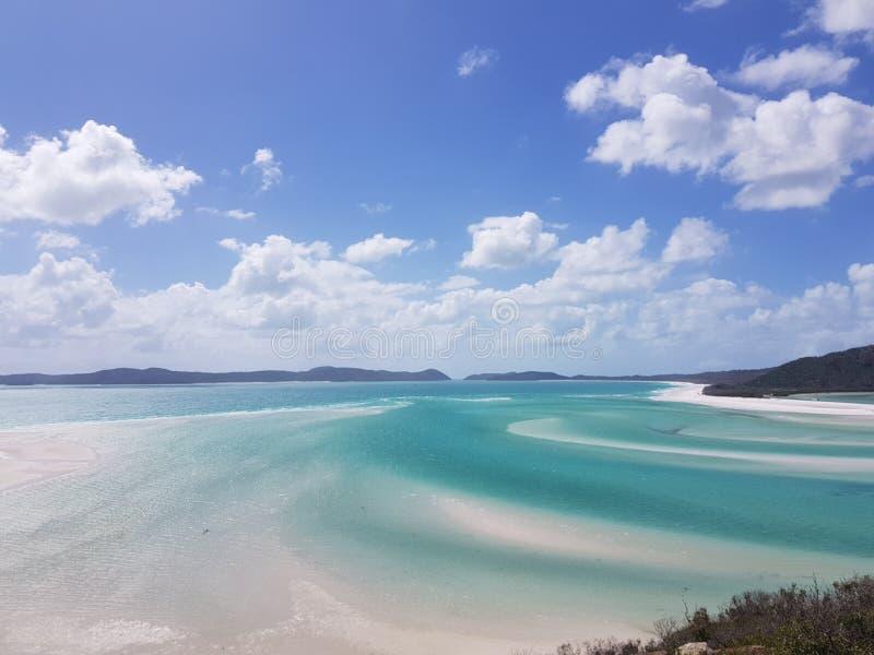 Μπλε παραλία whitsundays στοκ εικόνες