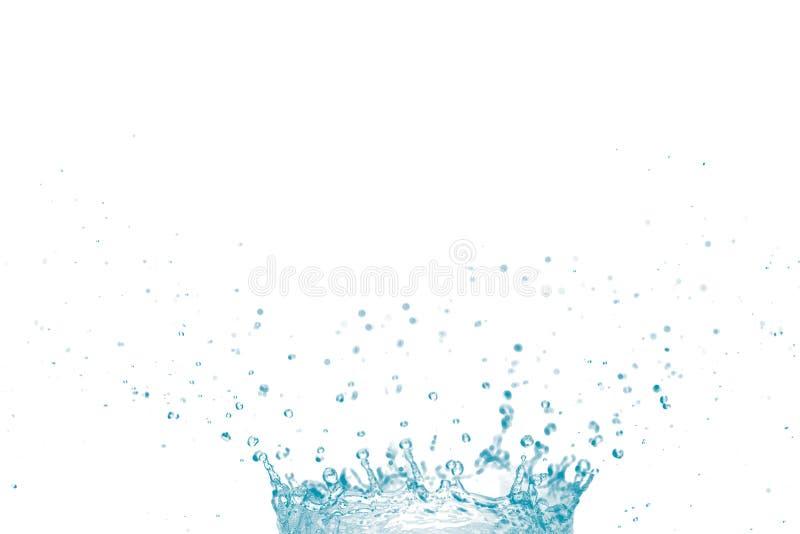 Μπλε παφλασμός νερού που απομονώνεται στο άσπρο υπόβαθρο στοκ φωτογραφίες