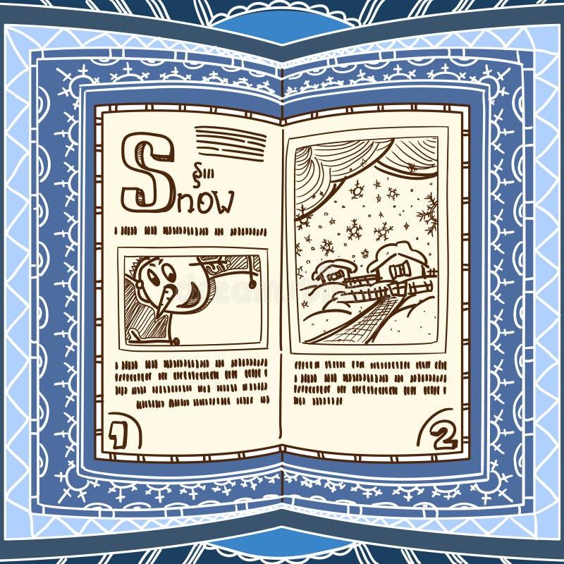 μπλε περίοδος βιβλίων απεικόνιση αποθεμάτων