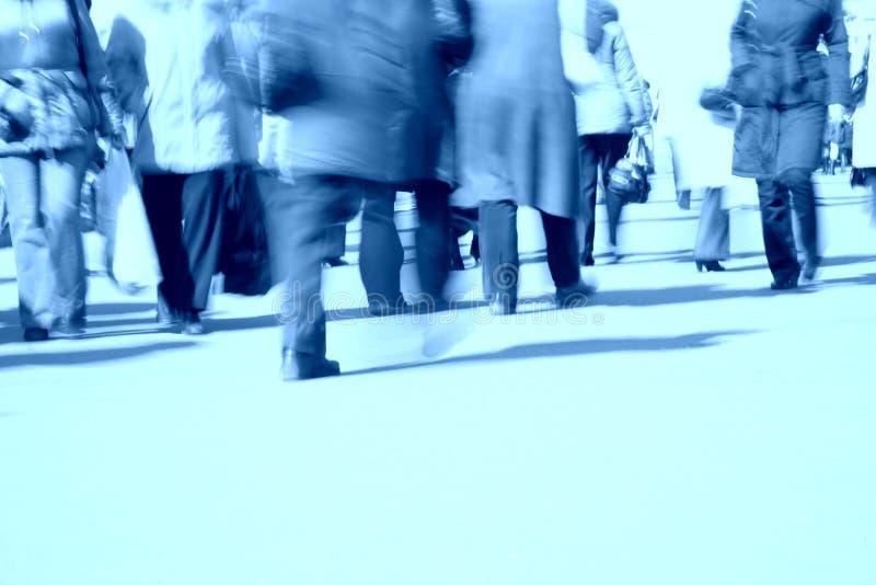 μπλε περπάτημα ποδιών στοκ εικόνες