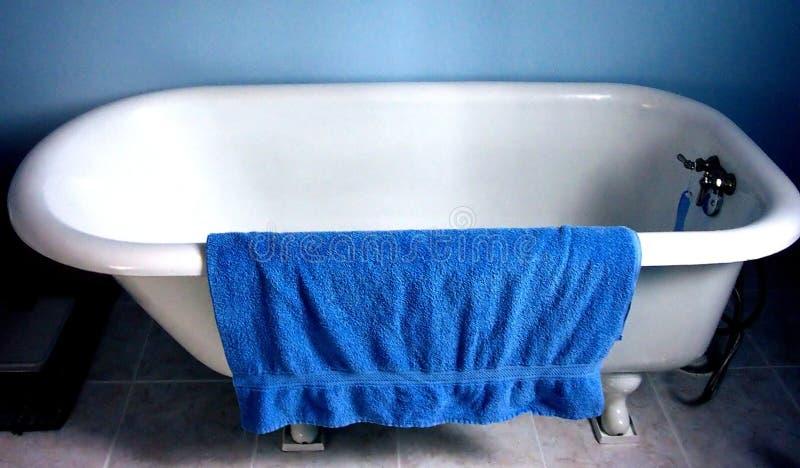 μπλε πετσέτα στοκ εικόνα
