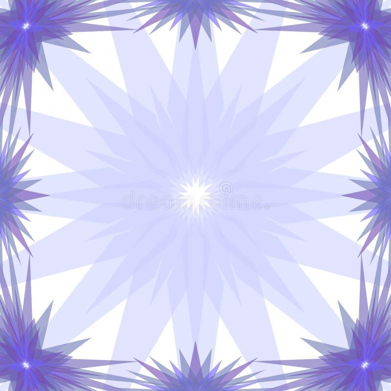 Μπλε πλαίσιο αστεριών απεικόνιση αποθεμάτων