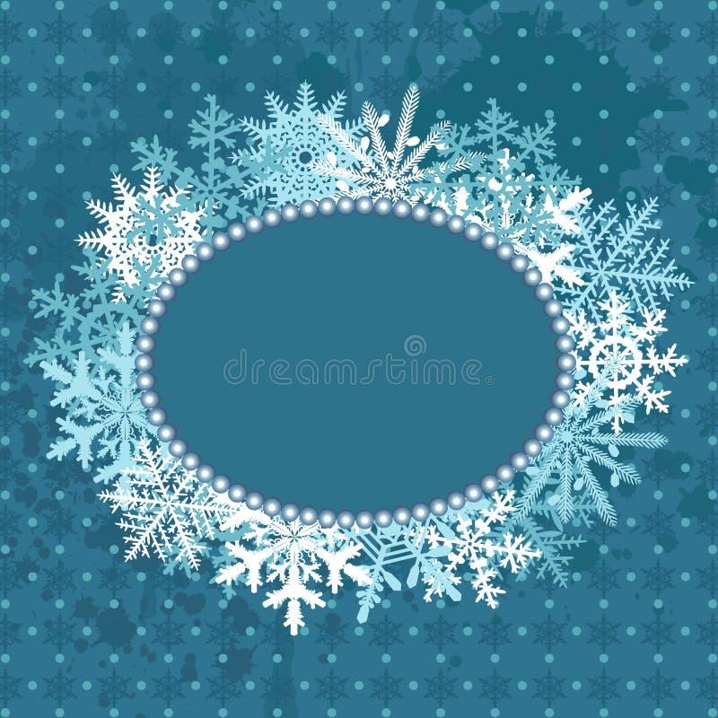Μπλε πλαίσιο Χριστουγέννων διανυσματική απεικόνιση