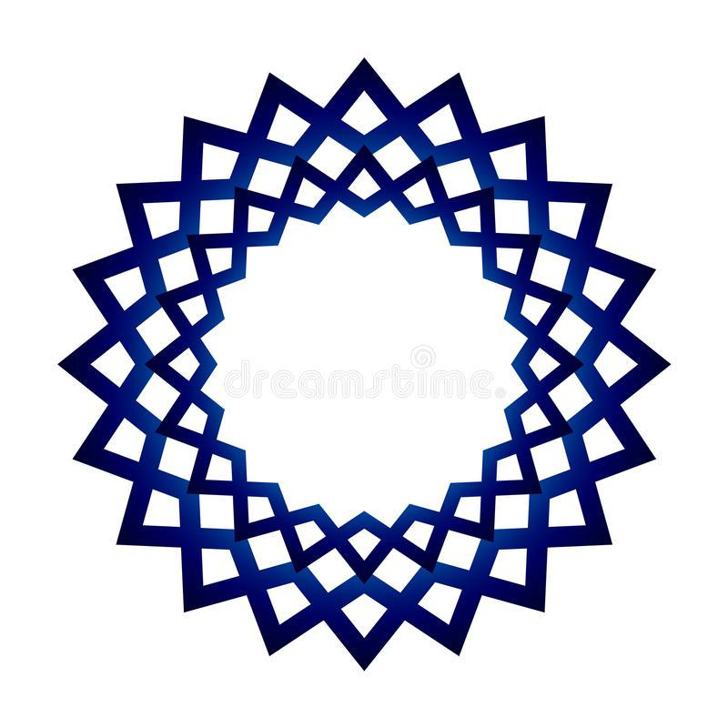 Μπλε πλαίσιο mandala ελεύθερη απεικόνιση δικαιώματος