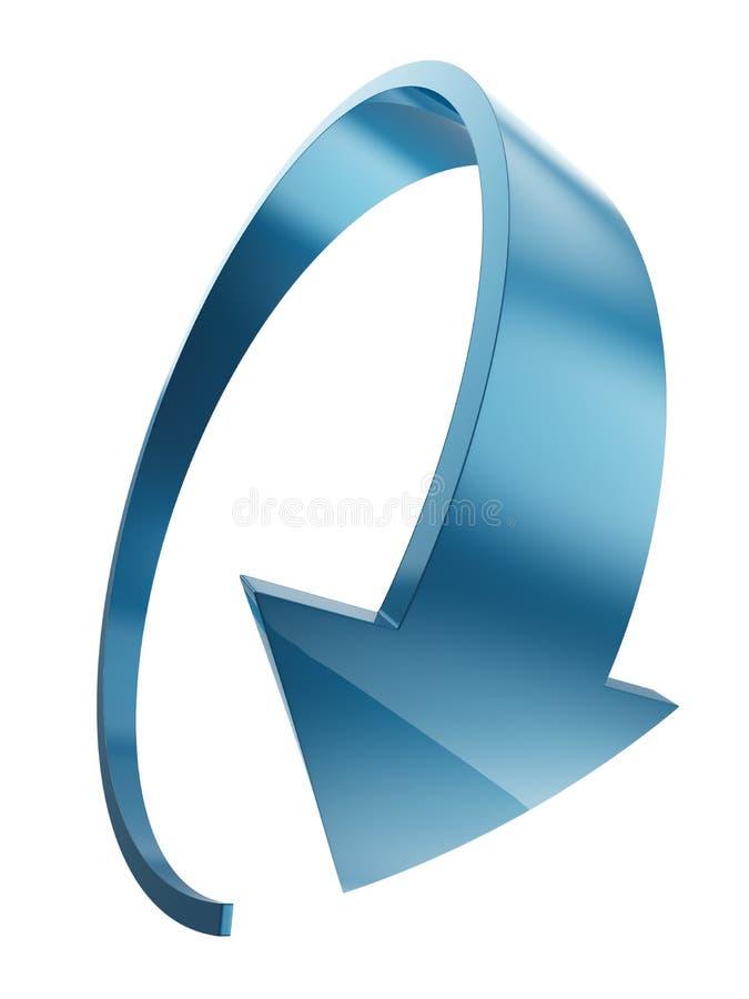 Μπλε πλαστικό στρογγυλό βέλος απεικόνιση αποθεμάτων