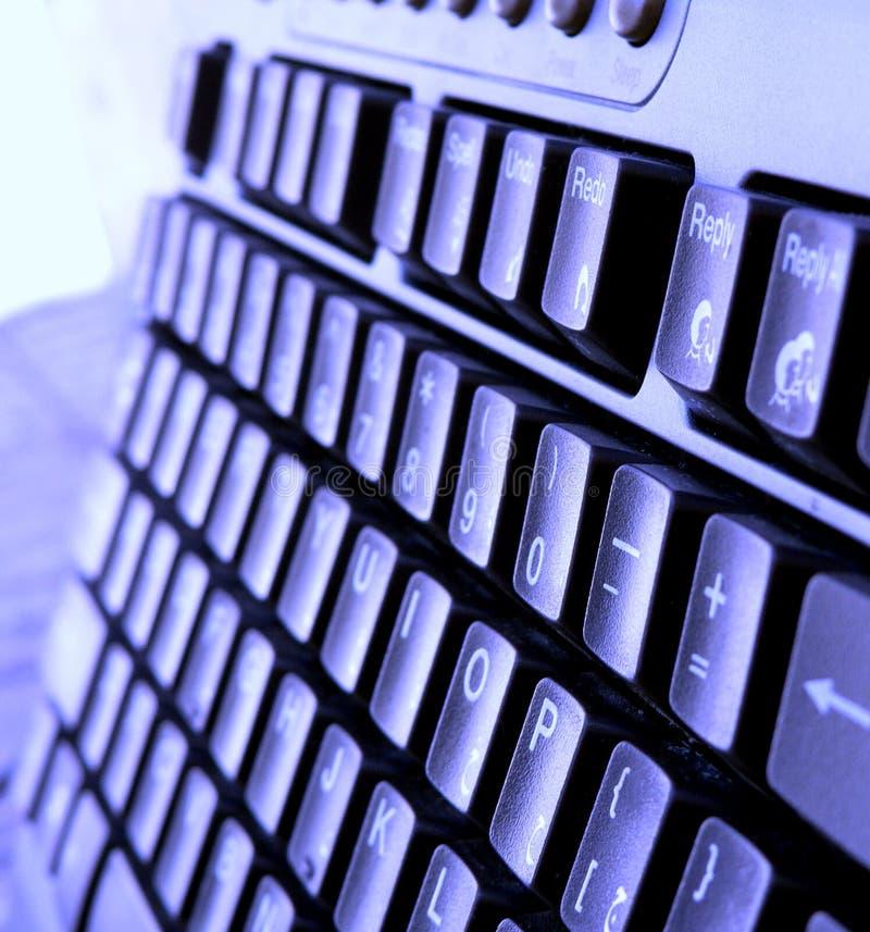 μπλε πληκτρολόγιο στοκ φωτογραφία με δικαίωμα ελεύθερης χρήσης