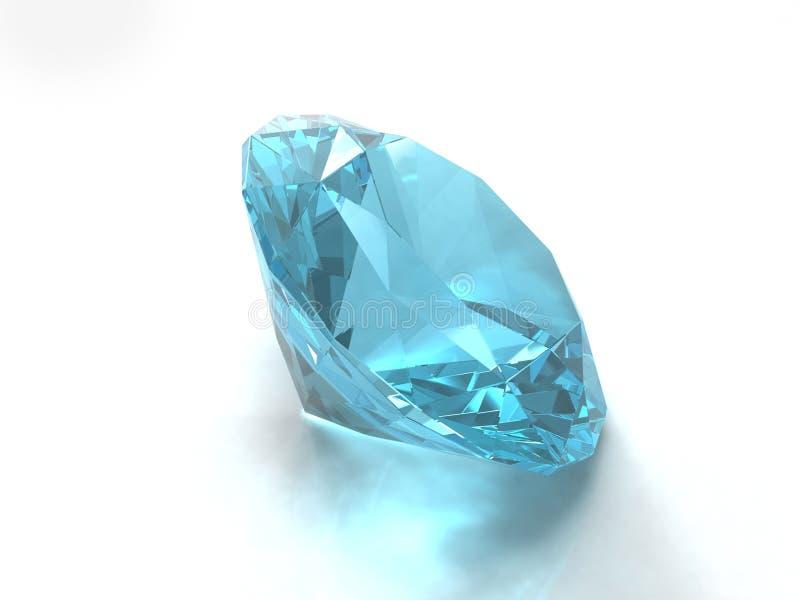 μπλε πολύτιμος λίθος topaz στοκ εικόνες με δικαίωμα ελεύθερης χρήσης