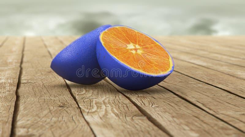μπλε πορτοκαλί δέρμα διανυσματική απεικόνιση