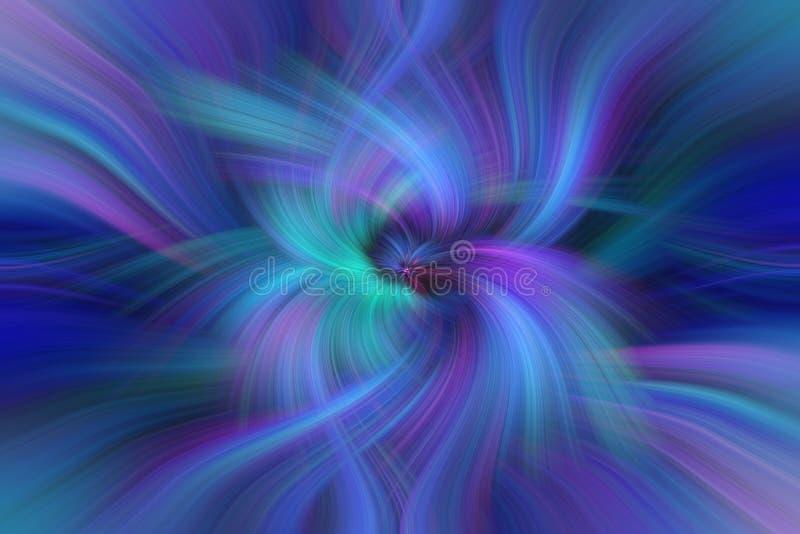 Μπλε πορφυρή πράσινη περίληψη Ενότητα έννοιας με τον κόσμο στοκ φωτογραφία με δικαίωμα ελεύθερης χρήσης