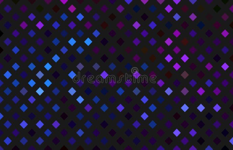 Μπλε πορφυρό σχέδιο μωσαϊκών κρυστάλλων καθρεφτών στο σκοτεινό γκρίζο υπόβαθρο Αφηρημένη σύσταση ολογραμμάτων διανυσματική απεικόνιση