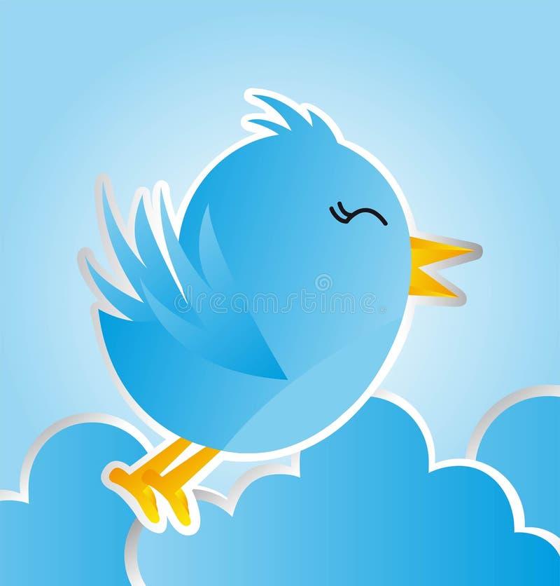 μπλε πουλιών διανυσματική απεικόνιση