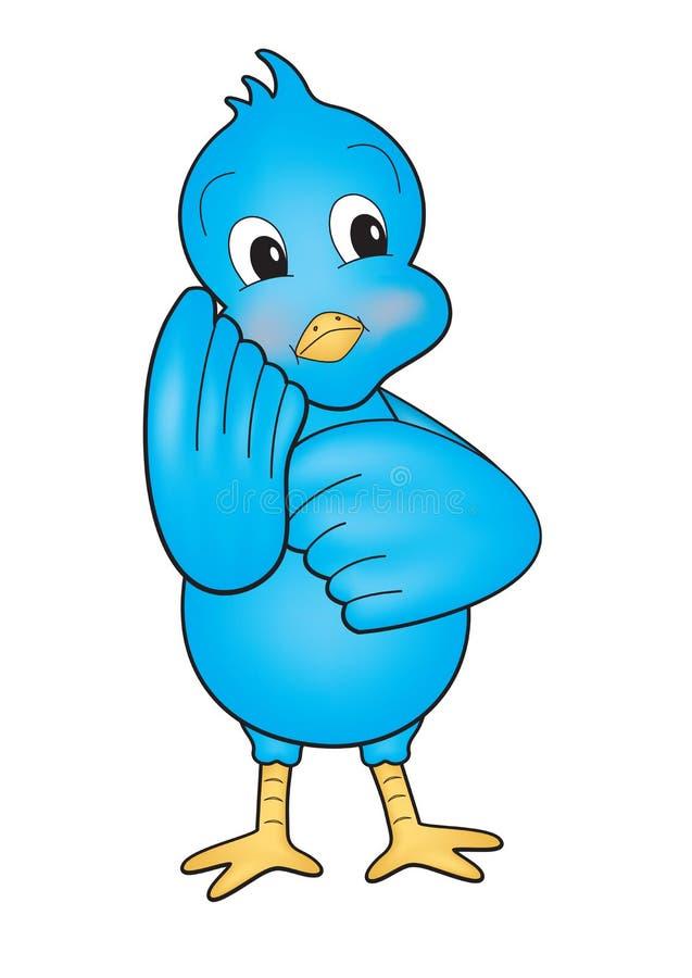 μπλε πουλιών απεικόνιση αποθεμάτων