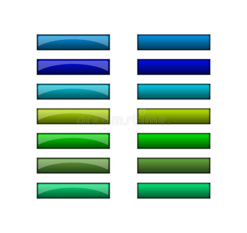 μπλε πράσινος Ιστός κουμπιών ελεύθερη απεικόνιση δικαιώματος