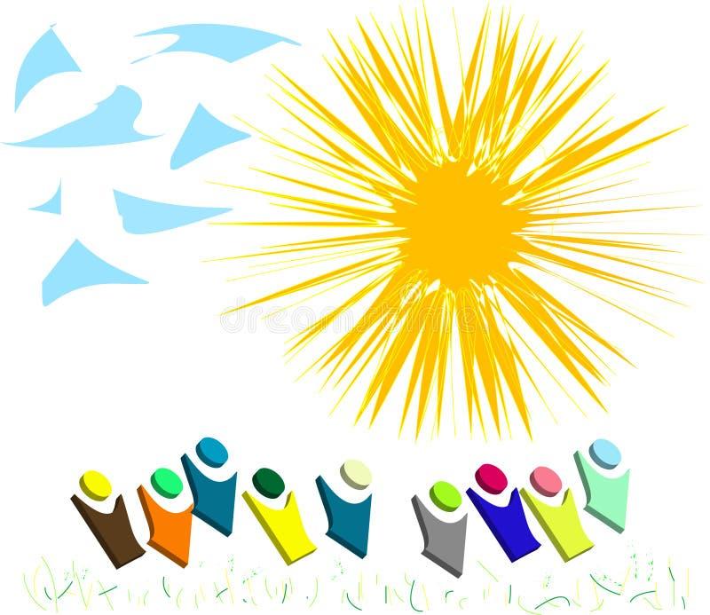 Download μπλε πράσινο φως χλόης Clou κι Διανυσματική απεικόνιση - εικονογραφία από ακτίνα, ήλιος: 17059711