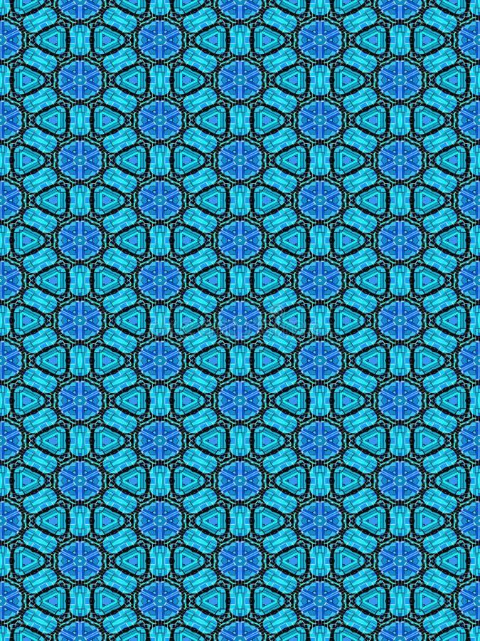 μπλε πρότυπο διακοσμήσε&o απεικόνιση αποθεμάτων