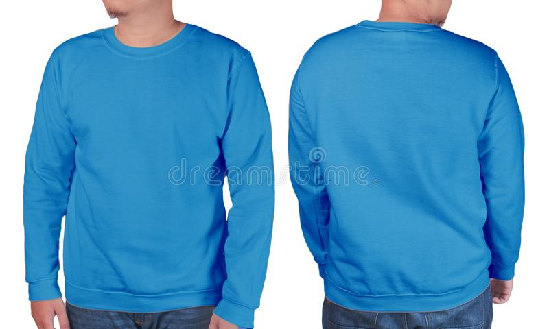 Μπλε πρότυπο προτύπων πουκάμισων πουλόβερ μακρύ sleeved στοκ φωτογραφία με δικαίωμα ελεύθερης χρήσης