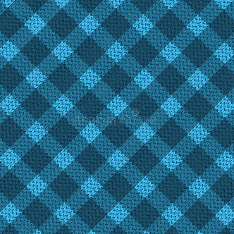 μπλε πρότυπο υφάσματος ρεαλιστικό διανυσματική απεικόνιση