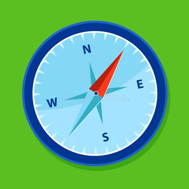 μπλε πυξίδα ελεύθερη απεικόνιση δικαιώματος