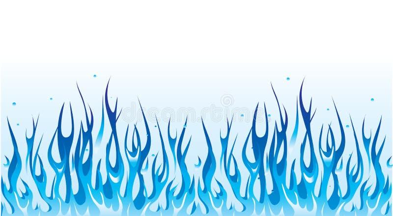 μπλε πυρκαγιά συνόρων ελεύθερη απεικόνιση δικαιώματος