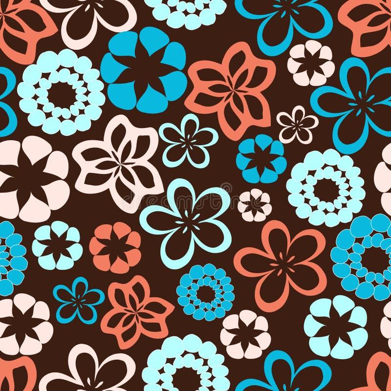 μπλε ροζ λουλουδιών διανυσματική απεικόνιση