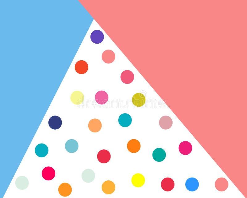 Μπλε ρόδινοι κύκλοι τριγώνων αφισών σύνθεσης screensaver των διαφορετικών  ελεύθερη απεικόνιση δικαιώματος