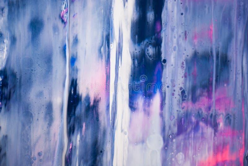 Μπλε ρόδινο άσπρο γκρίζο υπόβαθρο σύστασης χρώματος καταρρακτών στοκ εικόνες με δικαίωμα ελεύθερης χρήσης