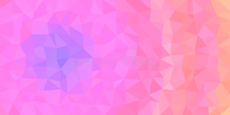 Μπλε ρόδινο πορτοκαλί χαμηλό πολυ διανυσματικό υπόβαθρο απεικόνιση αποθεμάτων