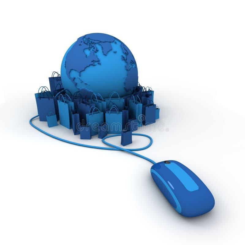 μπλε σε απευθείας σύνδ&epsil απεικόνιση αποθεμάτων