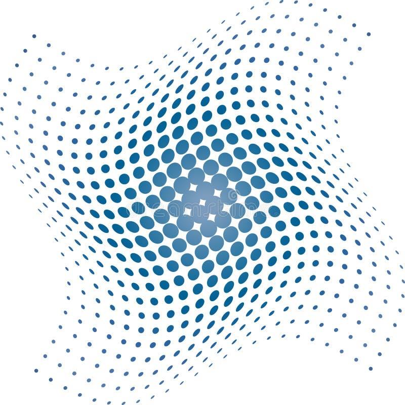 μπλε σημεία ανασκόπησης η&m διανυσματική απεικόνιση
