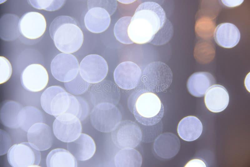 Μπλε σημεία θαμπάδων Ελαφριά ανασκόπηση Bokeh στοκ εικόνες