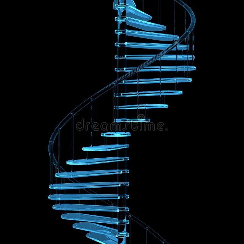 μπλε σκάλα διαφανής ακτίν&al ελεύθερη απεικόνιση δικαιώματος