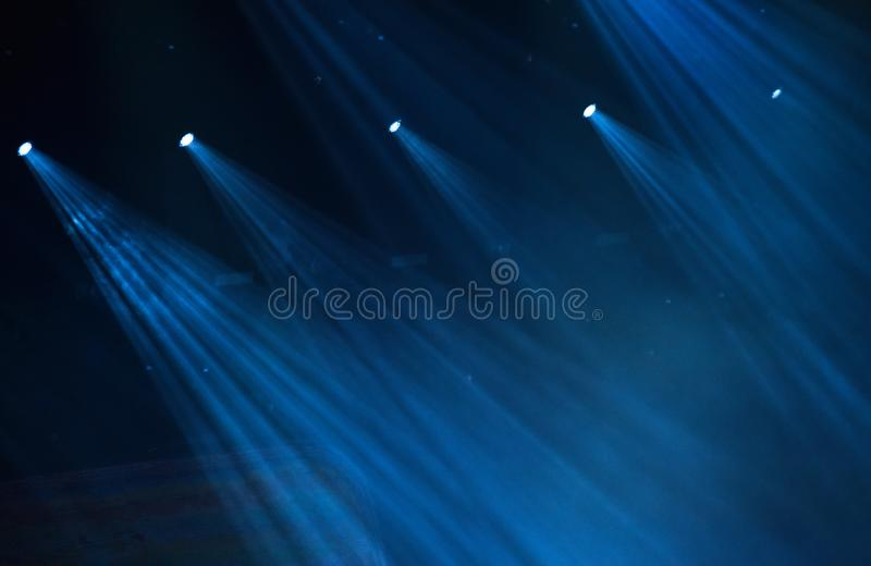 Μπλε σκηνικά φω'τα στοκ φωτογραφίες με δικαίωμα ελεύθερης χρήσης