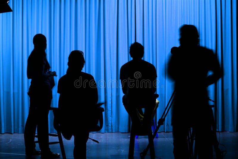 μπλε σκηνοθέτες στοκ εικόνες με δικαίωμα ελεύθερης χρήσης