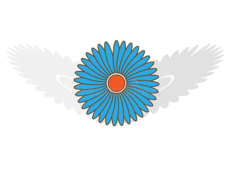 μπλε σκιές λουλουδιών ελεύθερη απεικόνιση δικαιώματος