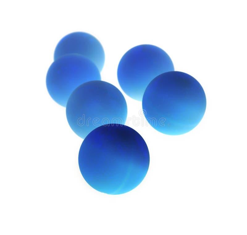 μπλε σκοτεινές σφαίρες στοκ εικόνα